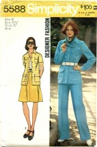 Simplicity 5588 Shirt-Jacket Skirt Pants Size 10 - Bust 32 1/2