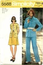 Simplicity 5588 Shirt-Jacket Skirt Pants Size 10 - Bust 32 1/2