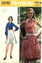 Simplicity 5619 Front Button Flared Dress Size 12 - Bust 34