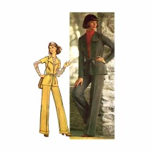 1970s Misses Jiffy Knit Jacket Pants Simplicity 5726 Vintage Sewing Pattern Size 12 Bust 34