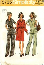 Simplicity 5735 Dress Tunic Pants Size 14