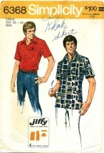 Simplicity 6368 Mens Jiffy Shirt Size 42 - 44