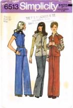 Simplicity 6513 Unlined Vest & Pants Size 14 - Bust 36
