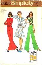 Simplicity 6655 Top Skirt Pants Size 10 - Bust 32 1/2