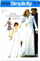 Simplicity 6658 Halter Dress Gown and Feather Trimmed Jacket Size 10 - Bust 32 1/2