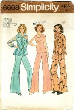 Simplicity 6668 Shirt-Jacket & Top Size 22 1/2 - 24 1/2