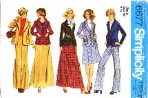 Simplicity 6677 Skirt Jacket Pants Size 14 - Bust 36