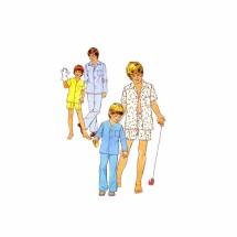 1970s Boys Pajamas Simplicity 6427 Vintage Sewing Pattern Size 10 - 12
