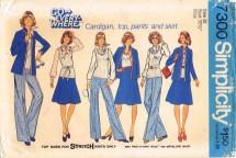 Simplicity 7300 Cardigan Top Pants Skirt Size 10 - Bust 32 1/2