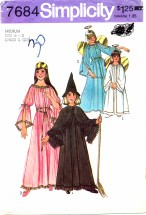Simplicity 7684 Angel Fairy Witch Princess Costumes Size 6 - 8