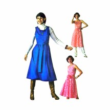 1970s Wrap Dress Jumper Pants Simplicity 7707 Vintage Sewing Pattern Size 12 Bust 34