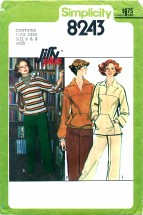 Simplicity 8243 JIFFY Pants & Pullover or Blouson Top Size 6 - 8