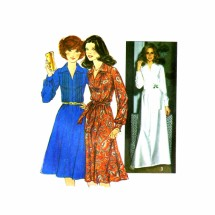1970s Womens Tucked Bodice Dress Simplicity 8249 Vintage Sewing Pattern Size 12 Bust 34