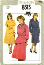 Simplicity 8313 Pullover Dress Top Skirt Size 10 - Bust 32 1/2
