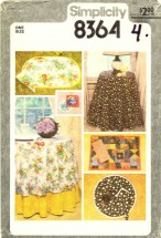 Tablecloths Napkins Reversible Place Mats Coasters Simplicity 8364 Sewing Pattern