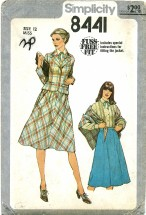 Simplicity 8441 Jacket Skirt Blouse Shawl Size 12 - Bust 34