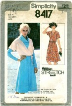 Simplicity 8417 Dress & Jacket Size 10 - 12 - Bust 32 1/2 - 34