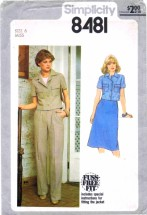 Simplicity 8481 Vintage Sewing Pattern Womens Jacket Skirt Pants Size 6 Bust 30 1/2