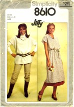 Simplicity 8610 Jiffy Tunic Skirt Belt Size 6 - 8