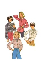 Simplicity 8738 Vintage Sewing Pattern Womens Front Button Blouses Size 14 Bust 36