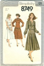 Simplicity 8749 Misses Pullover Dress Size 12