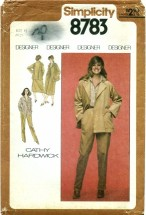 Simplicity 8783 Shirt Pants Skirt Jacket Size 12 - Bust 34
