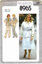 Simplicity 8965 Skirt Pants Jacket Vest Size 18 1/2 - Bust 41