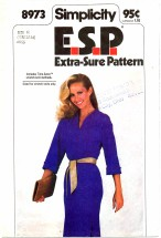 Simplicity 8973 Sewing Pattern Pullover Dress Size 10 - 14