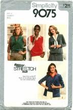 Simplicity 9075 Cardigans & Vests Size 6 - 10 - Bust 30 1/2 - 32 1/2
