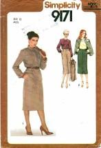 Simplicity 9171 Skirt Blouse Jacket Size 12 - Bust 34