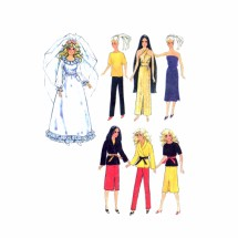 "1970s Barbie Doll Wardrobe Simplicity 9194 Vintage Sewing Pattern Fits 11 1/2"" Dolls"
