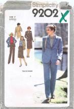 Juniors Skirt Pants Jacket Suit Size 7 Simplicity 9202 Sewing Pattern
