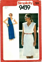 Simplicity 9439 Front-Wrap Dress Size 12 - Bust 34