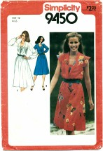 Simplicity 9450 Dress with Front Set-In Camisole Size 12 - Bust 34