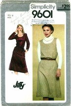 Simplicity 9601 Misses Dress or Jumper Size 12 - Bust 34