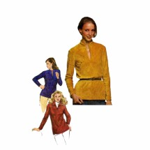 Misses Pullover Top 1980s Simplicity 9720 Vintage Sewing Pattern Size 12 - 14 - 16