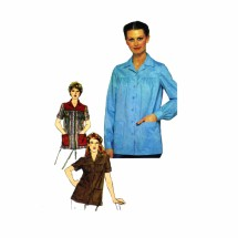 1980s Smock Top Simplicity 9729 Vintage Sewing Pattern Size 12 Bust 34