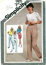 Simplicity 9835 Misses Pants & Shorts Size 12 - Waist 26 1/2