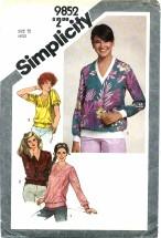 Simplicity 9852 Pullover Sweatshirt Top Size 12 - Bust 34