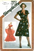 Simplicity 9870  Sleeveless Long Dress Size 12 - Bust 34