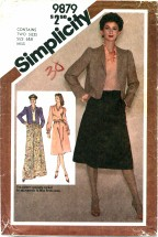 Simplicity 9879 Skirt Blouse Jacket Size 6 - 8 - Bust 30 1/2 - 31 1/2