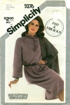 Simplicity 5276 Pullover Dress & Shawl Size 10 - 14 - Bust 32 1/2 - 36