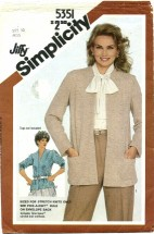 Simplicity 5351 Unlined Jacket Size 10 - Bust 32 1/2
