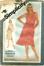 Simplicity 9895 Slim or Full Skirt Dress Size 14 - Bust 36