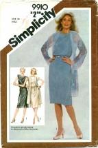 Simplicity 9910 Dress & Coat Size 12 - Bust 34