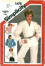 Simplicity 5478 Pullover Blouses 10 - 12