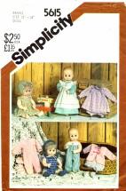 Simplicity 5615 Baby Doll Wardrobe