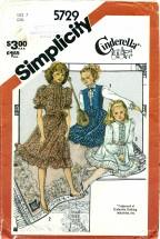Simplicity 5729 Pullover Dress Vest Sash Size 7
