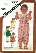 Simplicity 5806 Overalls Jumper Sundress Size 3