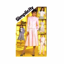 1980s Pants Skirt Blouse Jacket Suit Simplicity 5834 Vintage Sewing Pattern Size 10 Bust 32 1/2